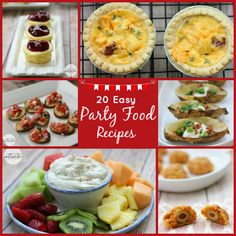 Delicious appetizers, dips, and more!