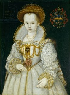 Portrait of Chrysogna Baker, Lady Dacre, aged six. By an artist of the English school, circa 1579.