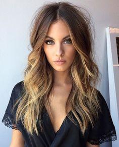 Light brown blonde balayage caramel hair