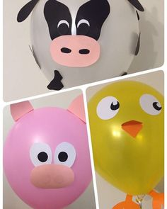 No photo description available. Farm Animal Party, Farm Animal Birthday, Barnyard Party, Farm Birthday, Farm Party, Party Animals, 2nd Birthday Parties, Barn Parties, Balloon Animals