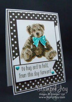Baby Bear Handmade New Baby Cards - blog.Stamp4Joy.com                                                                                                                                                                                 More