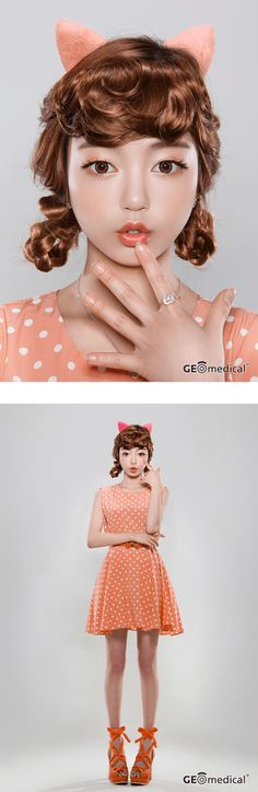 Geo HoliCat Cutie Cat Brown Circle Lenses (Colored Contacts)