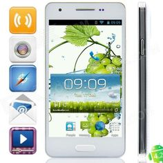 "#TweetMonsters F9006 MTK6582 Quad-Core Android 4.2.2 WCDMA Bar Phone w/ 4.3"", FM, Wi-Fi and GPS - White from 149,= for Euro 74,70"