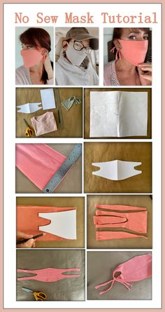 Pas de couture, masque facial facile: bricolage - WobiSobi: No Sew, Easy Face Mask: DIY Best Picture For diy clothes For Your Taste You are looking - Easy Face Masks, Homemade Face Masks, Face Mask Diy, Simple Face, Diy Mask, Diy Lace Mask, Sewing Hacks, Sewing Tutorials, Sewing Projects