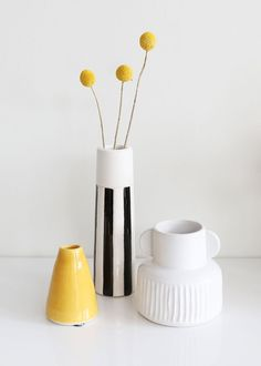 Find decorative home flower vases to use as table accents, like this adorable, small white stoneware vase with a pleated pattern. It's the perfect bud vase for your succulents. White Tall x Wide Stoneware Browse Ceramic Vases Flower Vase Design, Flower Vases, Flower Arrangements, Tall Vases, Bud Vases, Ikea Vases, Yellow Vase, Nyc, Ceramic Flowers