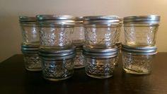 12 Ball Mason Jelly Jars Glass Quilted Canning Jam Jar 4oz Lids & Bands - no box