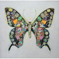 Mondi Art Grote Vlinder Schilderij