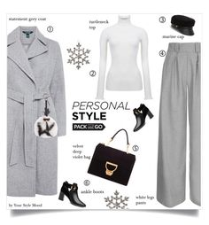 """Total grey"" by yourstylemood ❤ liked on Polyvore featuring Topshop, Ted Baker, Lauren Ralph Lauren, Fendi, Eugenia Kim and Shishi"