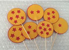 Dragon ball z theme cupcake toppers
