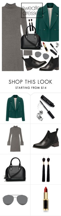 """""""Sweater Dresses"""" by orrinn ❤ liked on Polyvore featuring Bobbi Brown Cosmetics, Adrianna Papell, Louis Vuitton, Mignonne Gavigan, Gentle Monster and L'Oréal Paris"""