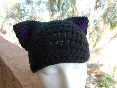 Black and purple custom hat.