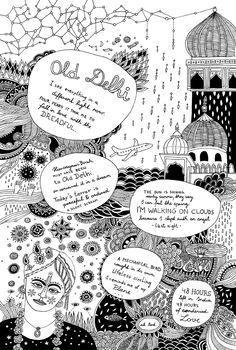New Travel, Travelogue, Book Illustration, Drawing S, Iran, Oriental, Journey, India, Adventure