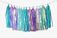 Mermaid Party | Tassle garland | Mermaid birthday | under the sea party | little mermaid party | mermaid decorations | by FortElevenFifty on Etsy https://www.etsy.com/listing/465910795/mermaid-party-tassle-garland-mermaid
