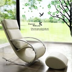 PVC Home Decor Wall Decals Sticker with Natural Scenery Pattern (Green)