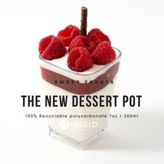 The New Dessert Pot – Sweet Treats. 100% Recyclable polycarbonate, Made in the UK, Stock immediately available.  White Chocolate mousse, raspberry compote, fresh raspberries, chocolate stick   Order yours now at https://www.harfieldtableware.co.uk/catalogsearch/result/…   #Stylishsavouries #Lowercarbonfootprint #environment #Whitechocolatemousse #raspberrycompote #freshraspberries #chocolatestick #dessertpot #polycarbonate #madeintheuk #stockavailable #breakfast #lunch #dinner