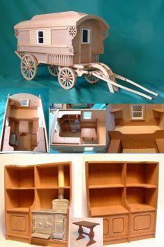 MQ075 - 1:12 Scale Caravan Kit - Minimum World - The Online Dolls House Superstore