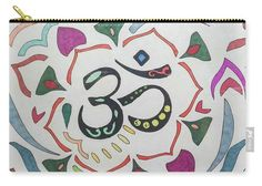 Carry-all Pouch featuring the drawing Ohm by Sara LaMothe Abstract Art, Fashion Accessories, Pouch, Drawings, Porch, Sketches, Drawing, Portrait, Hip Bag