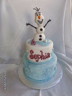 Olaf Birthday Cakes | Another Picture of frozen olaf birthday cake