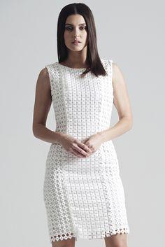 Maac | Square lace pencil dress