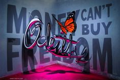 20 Anamorphic Street Art Illusions That'll Make You Look Twi.- 20 Anamorphic Street Art Illusions That'll Make You Look Twice Mind-Boggling Anamorphic Art by Sergio Odeith [Showcase] - 3d Street Art, Murals Street Art, Street Artists, Graffiti Artwork, Graffiti Lettering, Mural Art, Typography, Illusion Kunst, Illusion Art