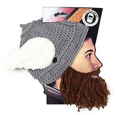 130ab41f574 Beard Head The Original Barbarian Thor Knit Beard Hat Brown   You can find  out more
