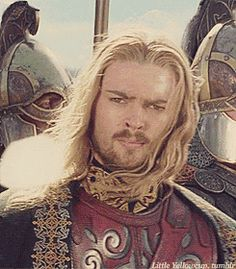 Karl Urban as Eomer, the King of Rohan at the end of The Return of the King.  Holy Hotness, Gandalf!