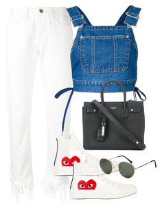 """""""Untitled #3457"""" by camilae97 ❤ liked on Polyvore featuring 3x1, G.V.G.V., Yves Saint Laurent, Comme des Garçons and H&M"""