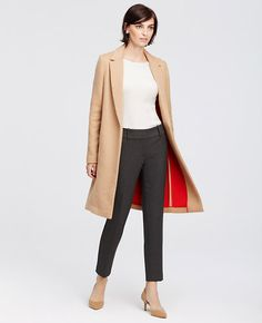 Image of Signature Wool Blend Camel Coat