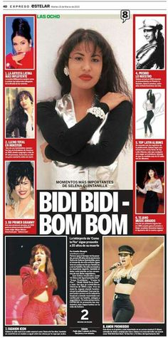 Spanish Newspaper featuring Selena Quintanilla Selena Quintanilla Perez, Selena And Chris, Selena Selena, Selena Mexican, Divas, Selena Pictures, Boujee Aesthetic, Celebs, Celebrities