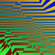 Psychedelic casino image of two horses racing, might take a good minute to see it.
