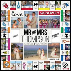 #wedding #Monopoly #Games #love #keepsake Special thanks: Photos © Creative Sparks Imagery, LLC