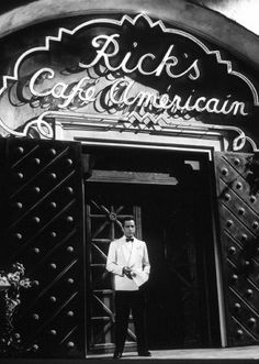 Rick's Café Americain - Casablanca. Did you know that someone actually made Rick's Cafe in Casablanca?! I want to go there.