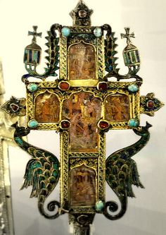 Russian Orthodox cross ~ Serbian 1630-1700 (Victoria and Albert Museum)