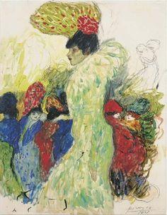 Pablo Picasso, 1901 Au Moulin Rouge (La fille du Roi d'Egypte)