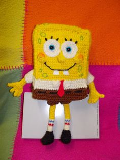 spongebob squarepants crochet pattern click on this link https://www.etsy.com/it/listing/166529079/spongebob-squarepants-crochet-pattern?ref=shop_home_feat