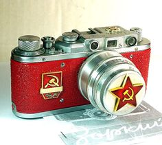 Actual soviet-era camera. Possibly the coolest piece of vintage electronics I have ever seen.