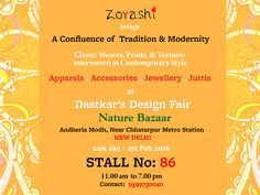Visit us at Stall No. 86 at Design Fair at Nature Basket, Andheria Modh, New Delhi. #DesignFair #Exhibition #IndianFashion #Apparel #WomenWear #Handlooms #Organic #Prints #PromoteHandloom #India