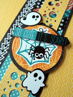 No matter how old I get, Halloween will always be a fun and playful holiday to me. And the new Toil & Trouble collection is so fun and playful and colorful, it just puts me in the mood for tric… Scrapbook Borders, Scrapbook Embellishments, Scrapbook Sketches, Baby Scrapbook, Scrapbook Paper Crafts, Scrapbooking Layouts, Scrapbook Cards, Paper Crafting, Halloween Paper Crafts