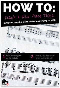 How to teach a new piano piece