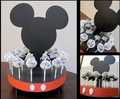 Items similar to Mouse Inspired Cake Pop Stand Holds 24 Cake Pops or Lollipops on Etsy Fiesta Mickey Mouse, Mickey Mouse Bday, Mickey Mouse Parties, Mickey Party, 2 Birthday, Mickey Mouse Clubhouse Birthday, Mickey Birthday, Mickey Cake Pops, Mickey Cakes