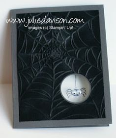 Julie's Stamping Spot -- Stampin' Up! Project Ideas Posted Daily: Googly Ghouls Spider Window Card