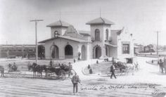 The Gulf, Colorado & Santa Fe RR (later AT) built this depot in San Angelo, Texas in 1888 when the line reached the city.