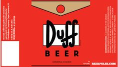 Duff Beer Labels                                                                                                                                                                                 Más