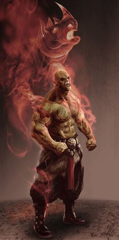ArtStation - Orc Martial artist, Dion Harris