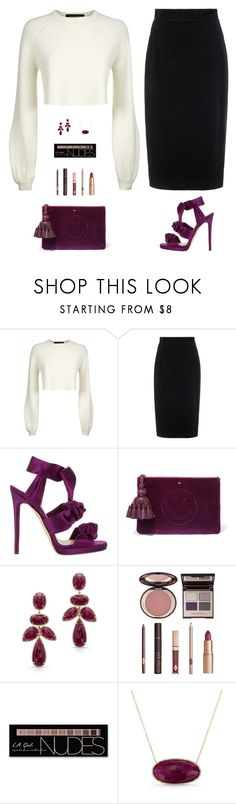 """Sin título #4637"" by mdmsb on Polyvore featuring moda, Jaeger, Raoul, Jimmy Choo, Anya Hindmarch, Anne Sisteron, Charlotte Tilbury y Charlotte Russe"