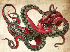 Lessons That Will Get You In The arms of The Man You love Octopus Tattoo Sleeve, Octopus Tattoo Design, Octopus Tattoos, Shark Tattoos, Octopus Artwork, Octopus Drawing, Octopus Painting, Photo Animaliere, Flash Art