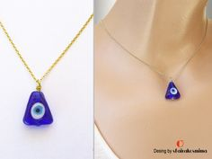 Eye Necklace, Pendant Necklace, Protection Necklace, Triangle Necklace, Yoga Jewelry, Third Eye, Evil Eye, Trending Outfits, Unique Jewelry