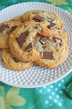 You'll be seeing shamrocks when you eat these delicious mint chocolate chip cookies! Andes mints make these a delicious minty, sweet and savory cookie!
