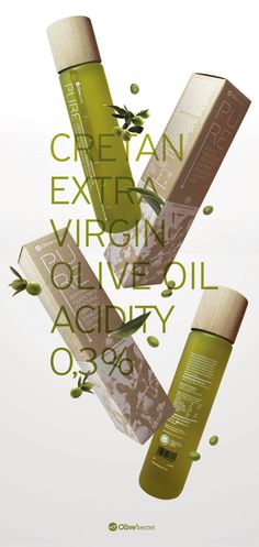 Pure Olive Oil on Packaging of the World - Creative Package Design Gallery (Oil Bottle Design) Craft Packaging, Beverage Packaging, Bottle Packaging, Olive Oil Packaging, Organic Packaging, Extra Virgin Oil, Olives, Pure Olive Oil, Olive Oil Bottles