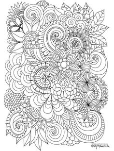 Flowers Abstract Coloring Pages Colouring Adult Detailed Advanced Printable Find This Pin And More On Mandalas